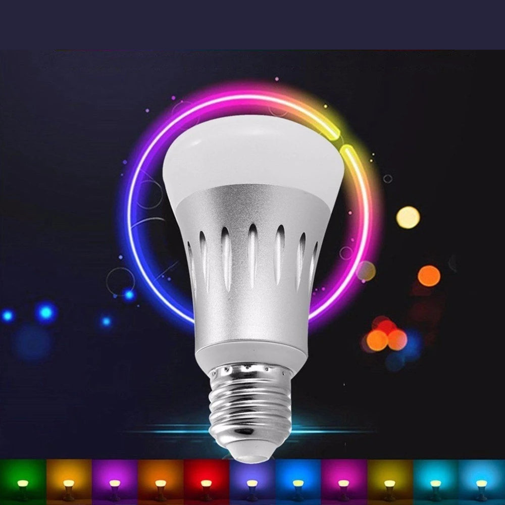 7W Smart LED Light Wireless Bulb Works with Remote Control