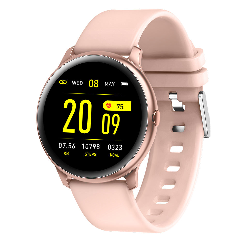 Smartwatch Heart Rate Blood Pressure O2 Monitor Weather Push Music Camera Control Brightness Adjust Fitness Tracker Smart Watch