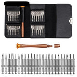 Leather Case 25 In 1 Torx Screwdriver Set Mobile Phone Repair Kit Multi / Hand Tools For Iphone Watch Tablet PC 2018 (Black) - JustgreenBox