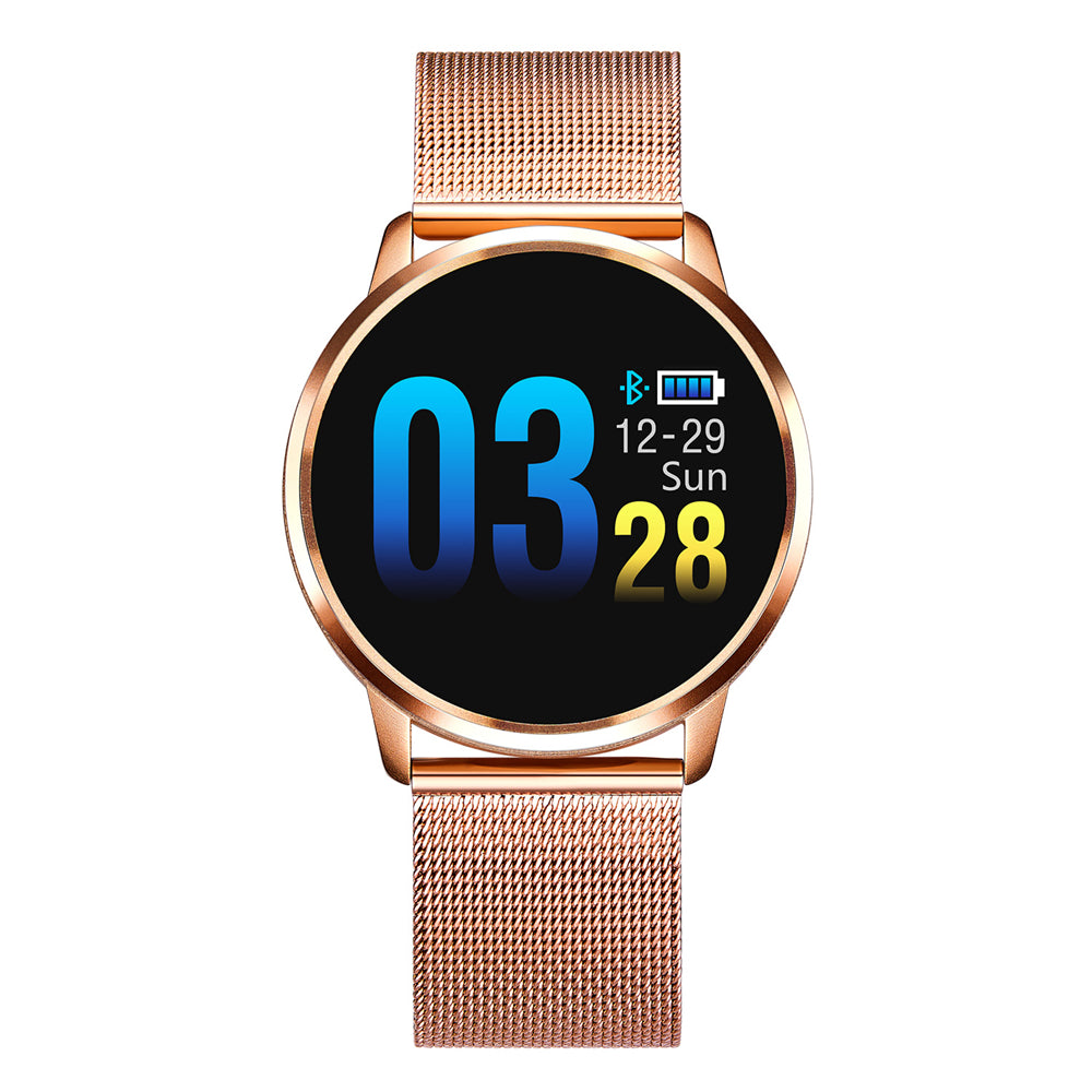 Stainless Steel SmartWatch 0.95 inch OLED Color Screen Blood Pressure Heart Rate Smart Watch - JustgreenBox