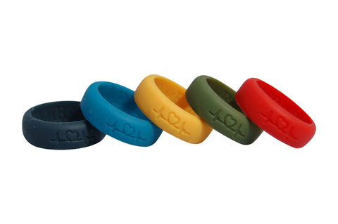 Couple's Collection -  2 men's silicone rings of your choice!