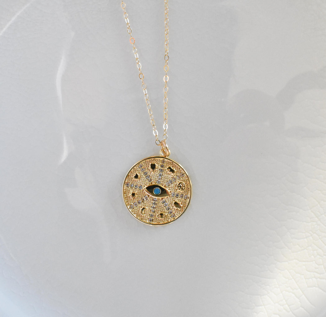 Crystal Evil Eye Necklace