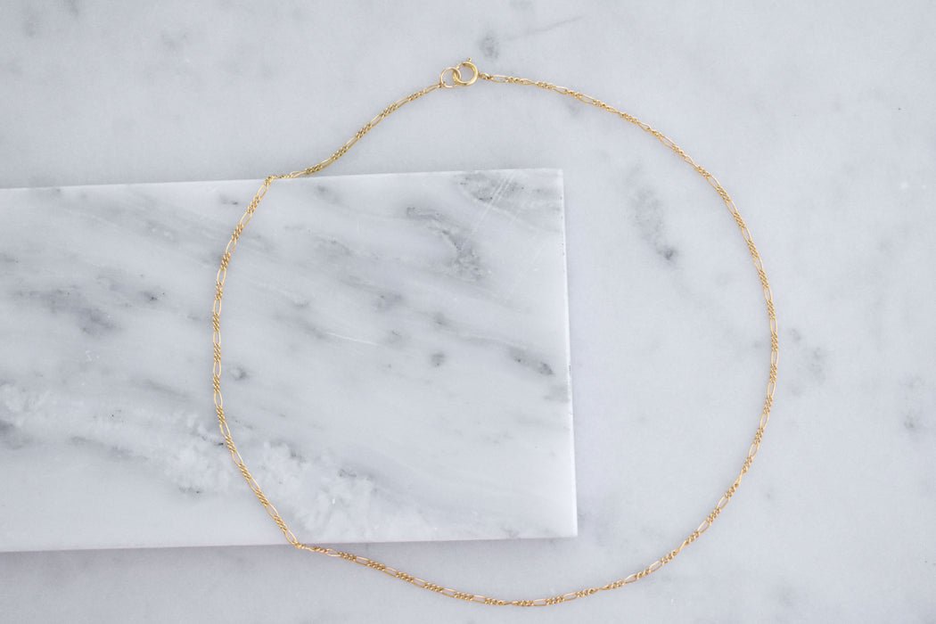 14k gold filled figaro choker. This choker is dainty and delicate, perfect to mix with other long necklaces.