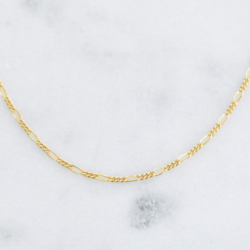 Minimal choker to mix and match. Figaro gold filled choker.