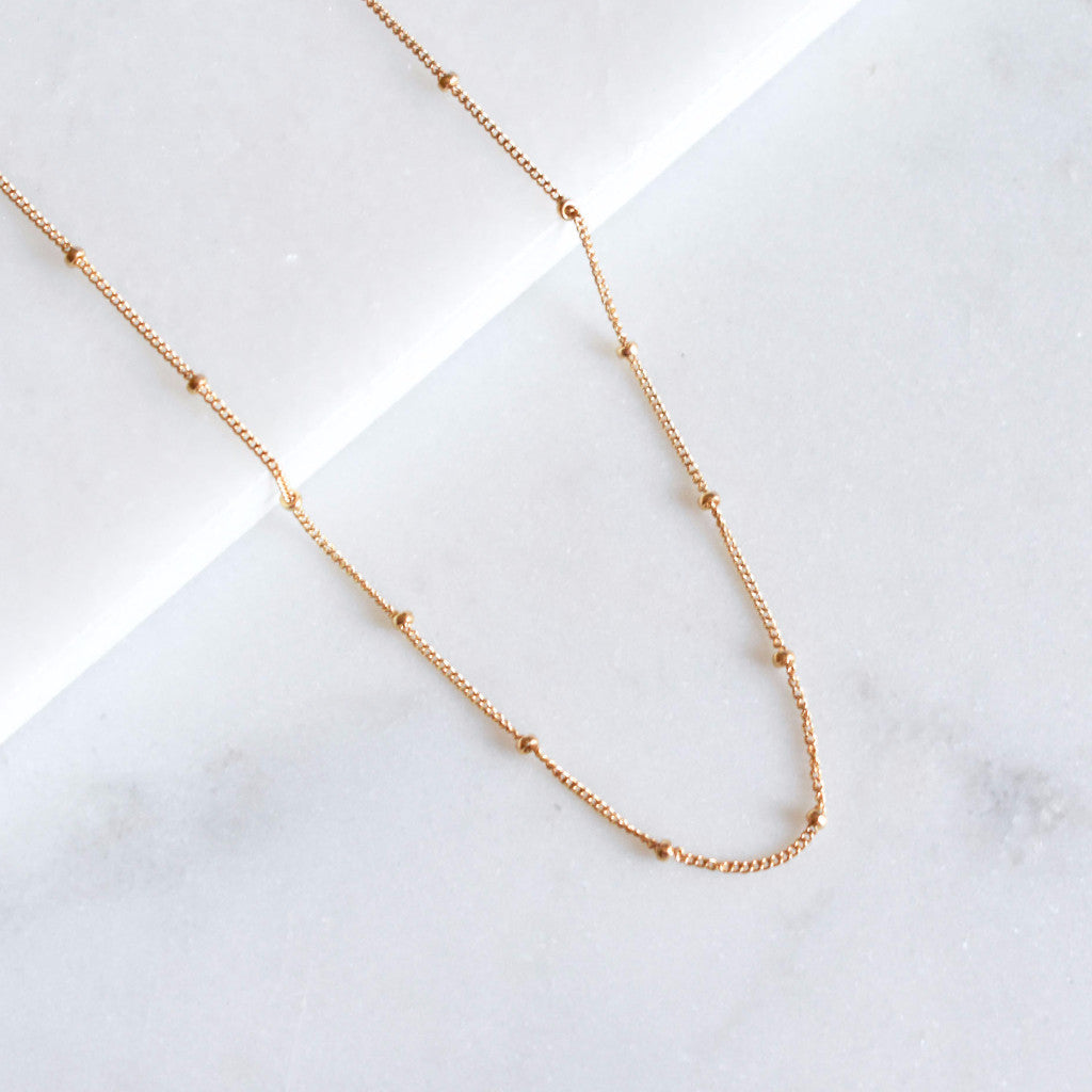 gold filled satellite choker necklace