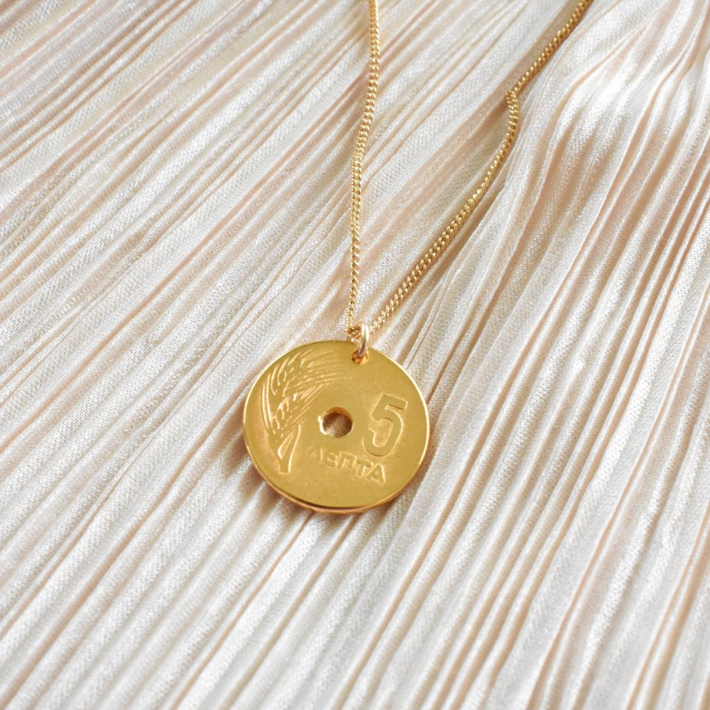 Athena Greek Coin Necklace