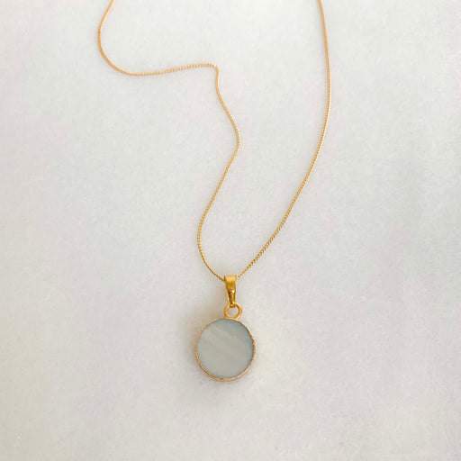 White Druzy Charm Necklace