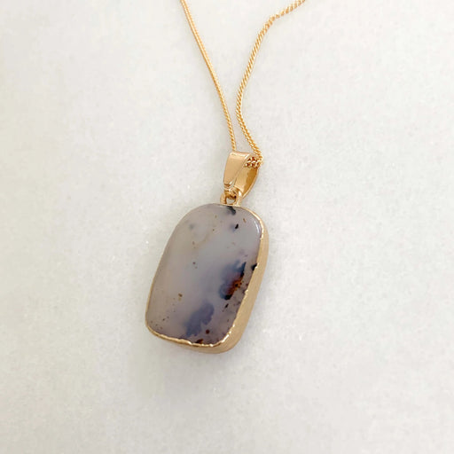 Purple Agate Charm Necklace
