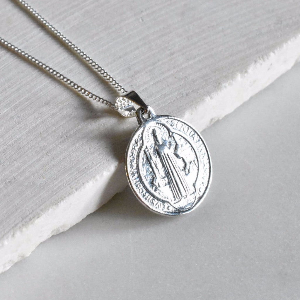 Sterling silver medallion is the perfect layering piece to wear everyday.