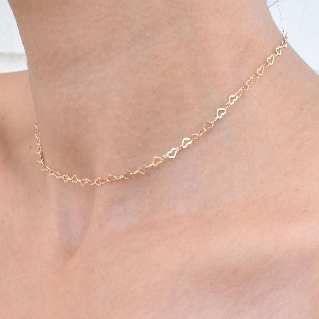 Heart of Gold Choker