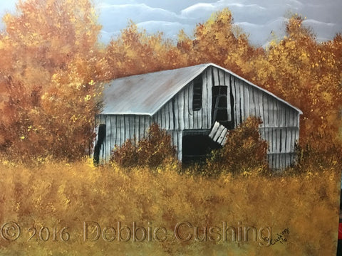 Abandoned Barn Acrylics e-Packet by Debbie Cushing
