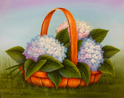 Basket of Hydrangeas Donna Hodson e-Packet