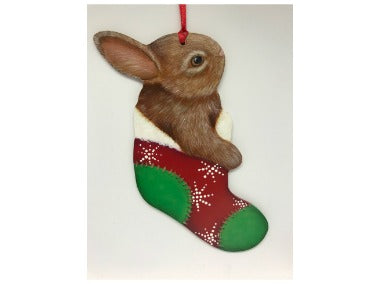 Bunny Stocking Acrylics e-Packet by Debbie Cushing