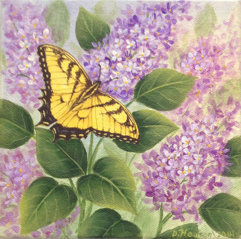 Butterfly & Lilacs e-packet  by Donna Hodson
