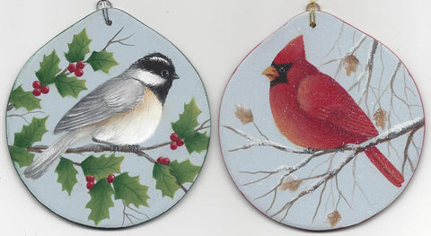 Cardianal and Chickadee e-packet by Donna Hodson