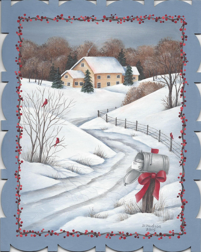December Snow acrylics e-packet by Donna Hodson