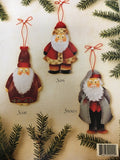 110(18) Santa Collection Ornaments by Elaine Thompson