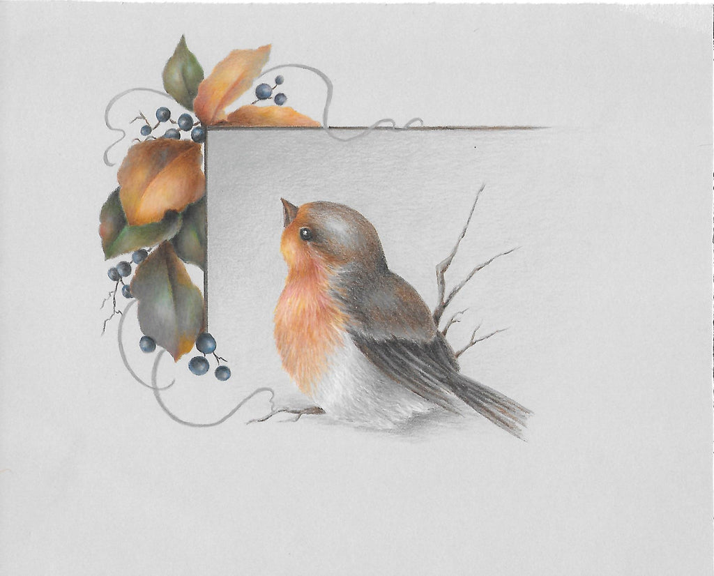 Robin and Fall Foliage  e-packet by Sharon Shannon