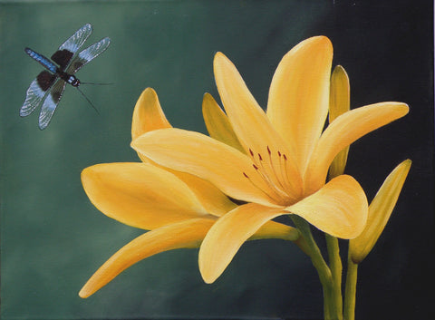 Lilies with Dragonfly Mabel Blanco e-Packet
