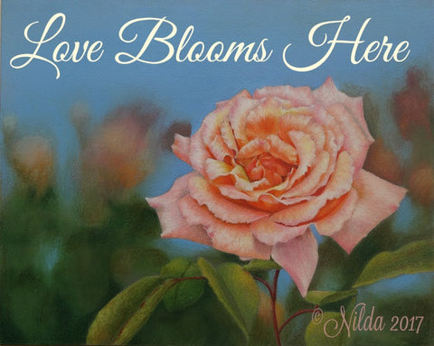 Love Blooms Here Colored Pencils Online Class by Nilda