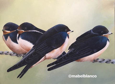 Swallows Acrylics e-Packet by Mabel Blanco
