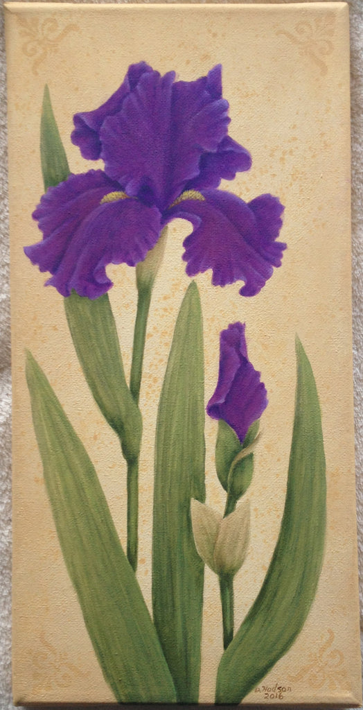Purple Beauty by Donna Hodson Acrylics Epacket