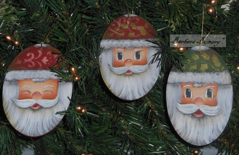 Paisley Santas Acrylics e-packet by Barbara Bunsey