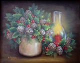 Pine and Holly by Donna Hodson e-packet in acrylics