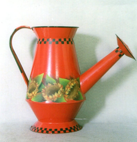 Red Watering Can Acrylics e-packet by Barbara Bunsey