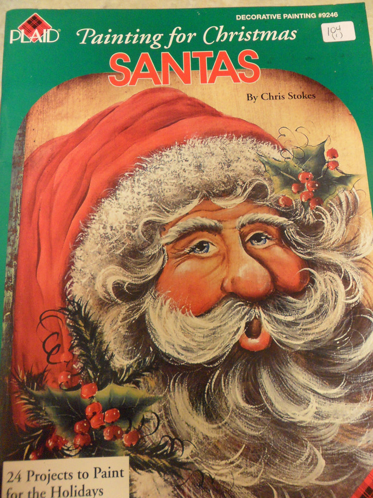 104(1) Painting for Christmas Santas By Chris Stokes