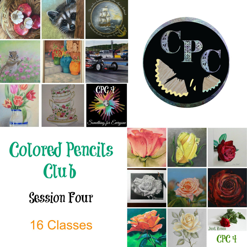 Membership Subscription to Colored Pencils Club Session Four