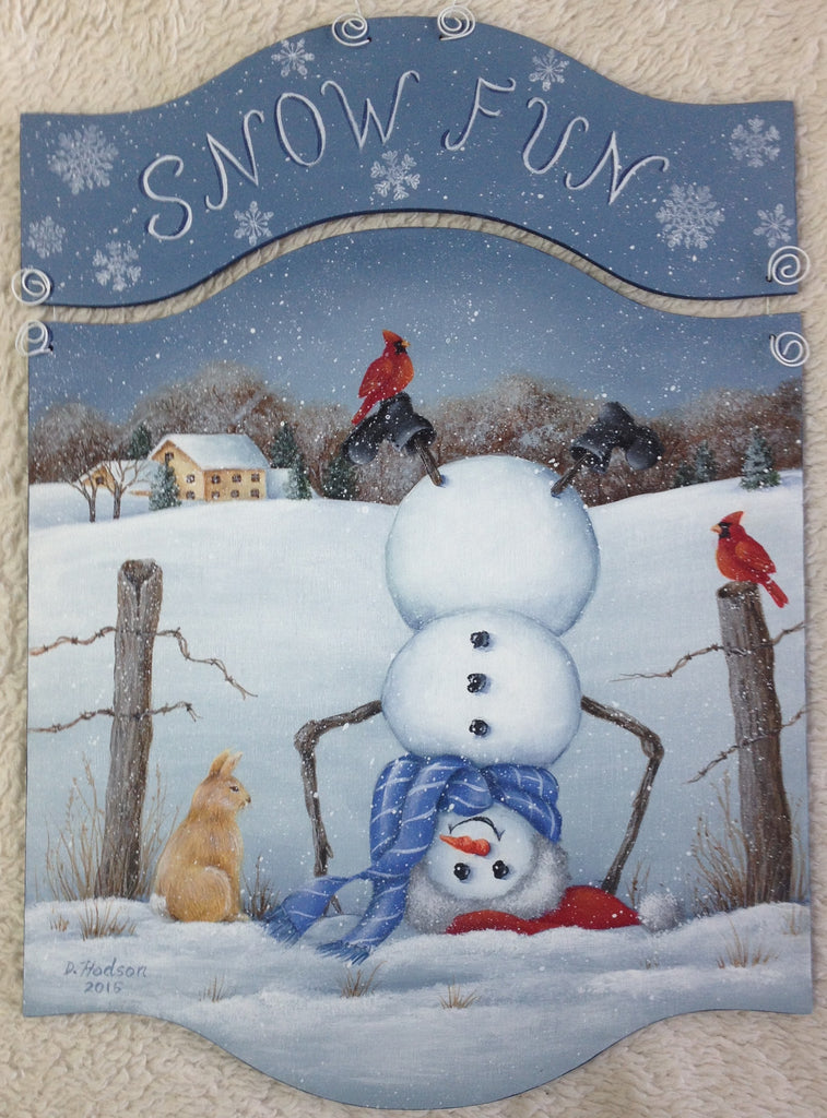 Snow Fun Acrylics e-packet by Donna Hodson