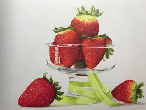 Strawberries? by Patsy Deal Colored Pencils e-packet