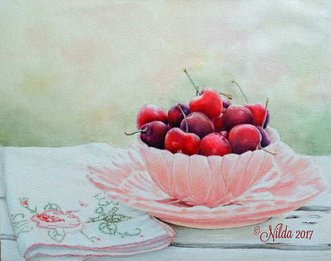 Summer Delights Colored Pencils Online Class by Nilda