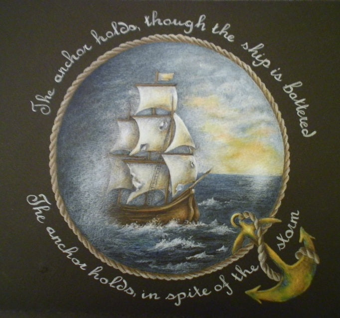 The Anchor Holds Colored Pencils Online Class by Sharon Shannon