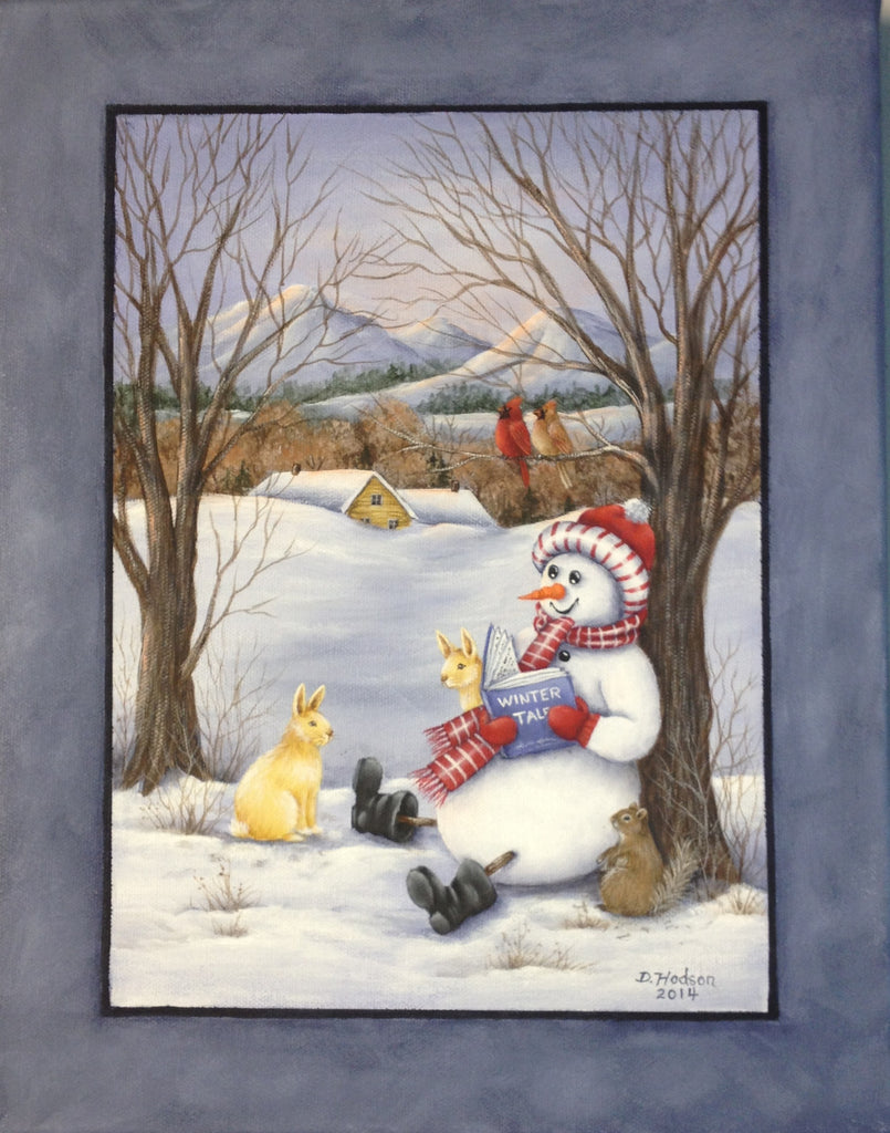 Winter Tales acrylics electronic pattern by Donna Hoson