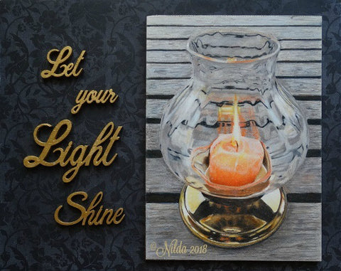 Let Your Light Shine Colored Pencils Online Class by Nilda