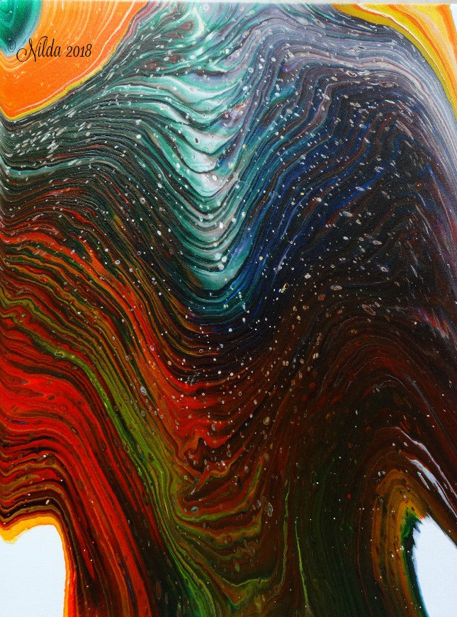 Layers Fluid Acrylics Original Art
