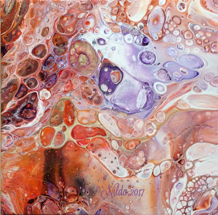 Hard and Soft Fluid Acrylics Original Art