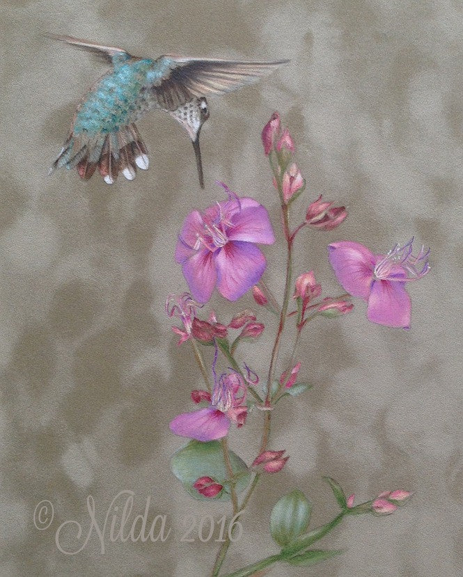 Dance with Flowers Colored Pencils Online Class by Nilda
