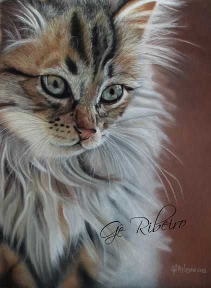Feline's Look Pastel Pencils Online Class by Ge Ribeiro