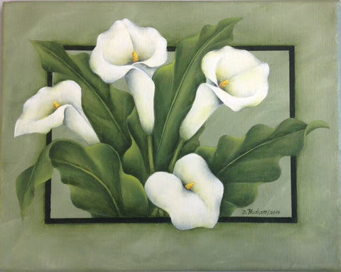 White Calla Lilies Donna Hodson E-packet