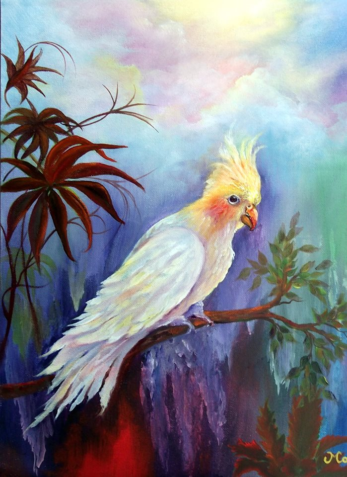 Gigi Cockatiel Acrylics and Oils Online Class by Mara Trumbo
