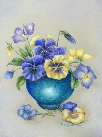 Spring Melody by Miyuki Nakano Colored Pencils E-packet
