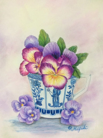 Pansy Lover Colored Pencils Online Class by Miyuki Nakano