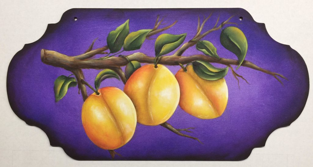 Golden Plums acrylics e-Packet by Lonna Lamb