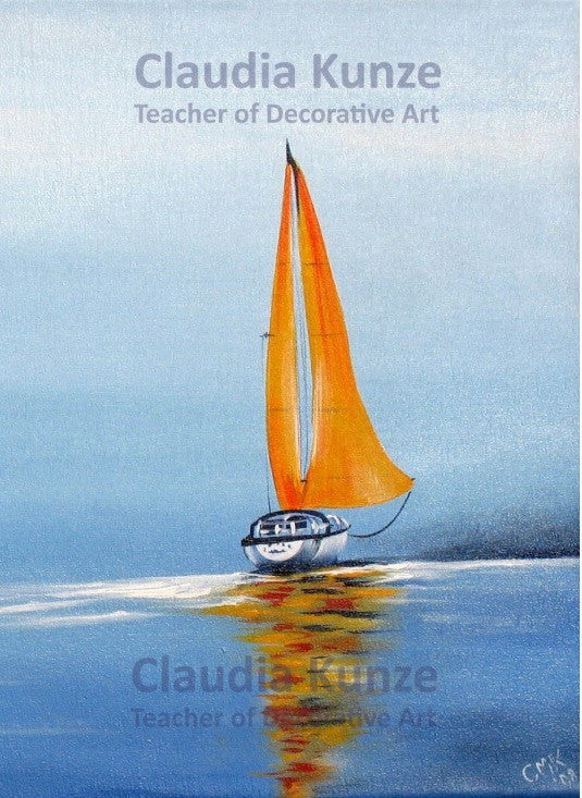 Seascape Acrylics e-packet by Claudia Kunze