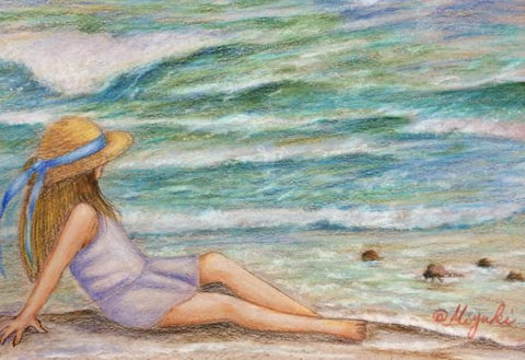 The Season in the Sun Colored Pencils Online Class by Miyuki Nakano