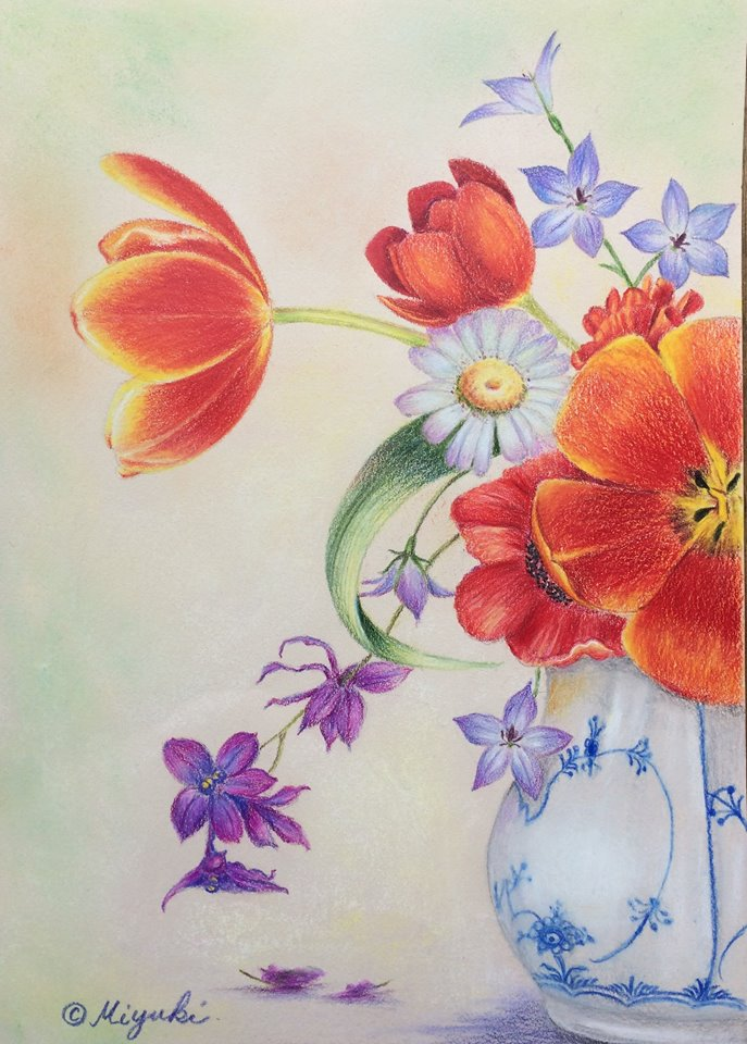 Sweet Scent by Miyuki Nakano Colored Pencils E-packet
