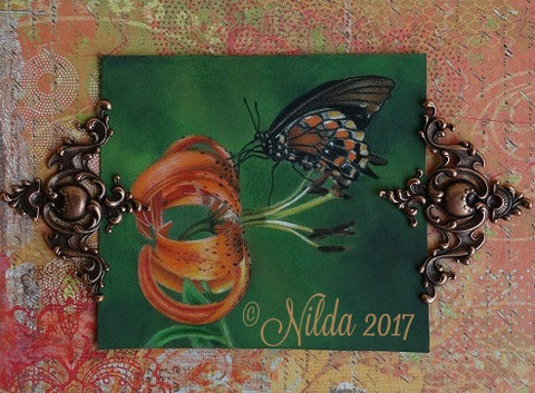 Tiger Lily Elegance Online Colored Pencils Class by Nilda